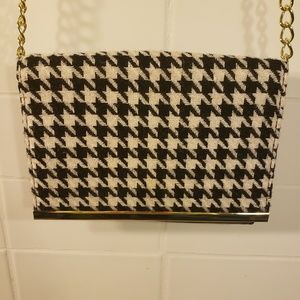 Banana Republic Herringbone Purse with Chain Strap
